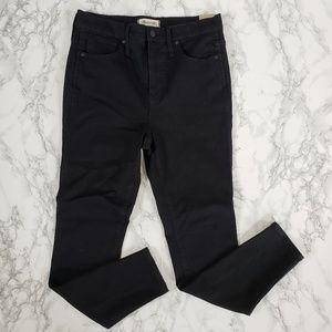 """NWT Madewell 10"""" High Rise Skinny Black Jeans"""